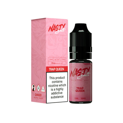 NASTY JUICE TRAP QUEEN 10ML SALT NICOTINE - FRUITY STRAWBERRY MENTHOL