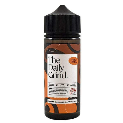 THE DAILY GRIND SALTED CARAMEL CAPPUCCINO 100ML SHORTFILL E-LIQUID