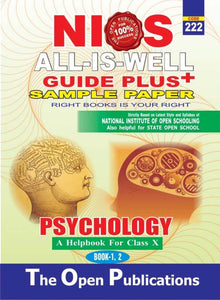 NIOS Class 10 222 PSYCHOLOGY 222 ENGLISH MEDIUM ALL IS WELL GUIDE PLUS + SAMPLE PAPER