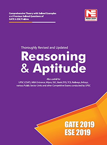 Reasoning & Aptitude for GATE 2019 and ESE 2019 (Prelims) - Theory and Previous Year Solved Papers (ENGLISH, Paperback, Made Easy Editorial Board)