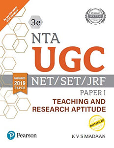 Pearson NTA UGC - NET/SET/JRF Paper I - Teaching and Research Aptitude (Includes 2019 Paper)