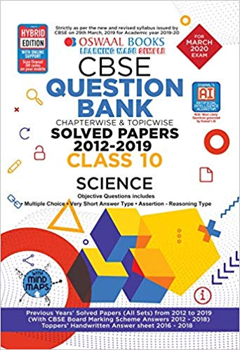 Oswaal Class 10 Science Question Bank for 2020 Examinations
