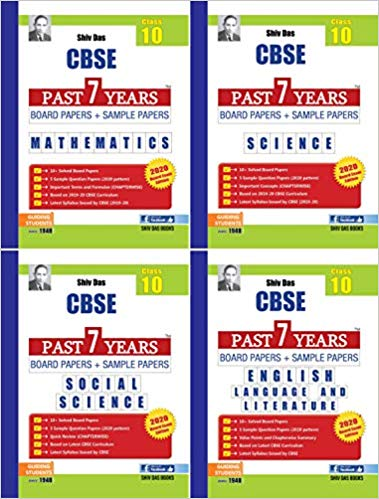 Shiv Das CBSE Class 10 Past Years Board & Sample Papers (Maths Science Social English) for session 2019-20
