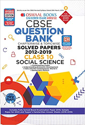 Oswaal Class 10 Social Science Question Bank for 2020 Examinations
