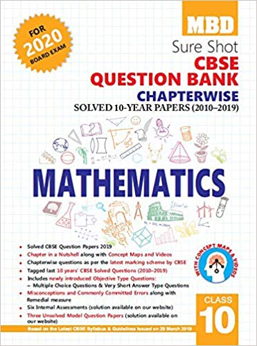 MBD Sure Shot CBSE Class 10 Mathematics Chapterwise Question Bank