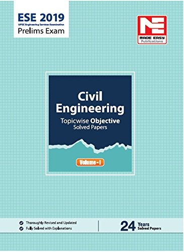 ESE 2019: Preliminary Exam : Civil Engineering Objective Paper - Volume I (ENGLISH, Paperback, Made Easy Editorial Board)