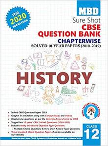 MBD Sure Shot CBSE Class 12 History Chapterwise Question Bank