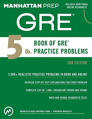 5 lb. Book of GRE Practice Problems (English, Paperback, Manhattan Prep)