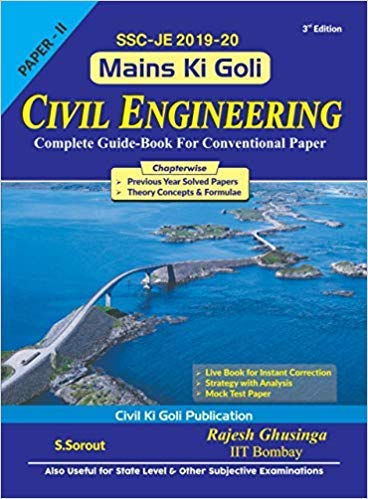 SSC JE Mains Ki Goli Civil Engineering Complete Guide for Conventional 2019-20