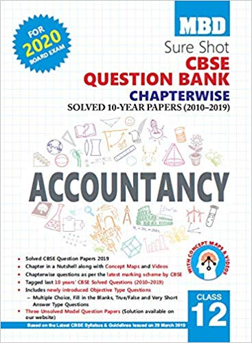 MBD Sure Shot CBSE Class 12 Accountancy Chapterwise Question Bank