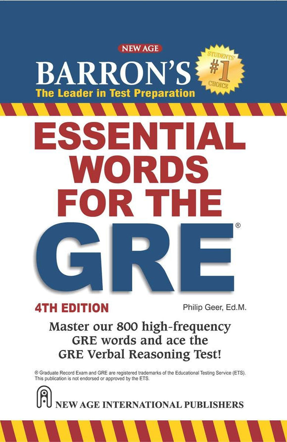 Barrons Essential words for the GRE 4th Edition (English, Paperback, Philip Geer)