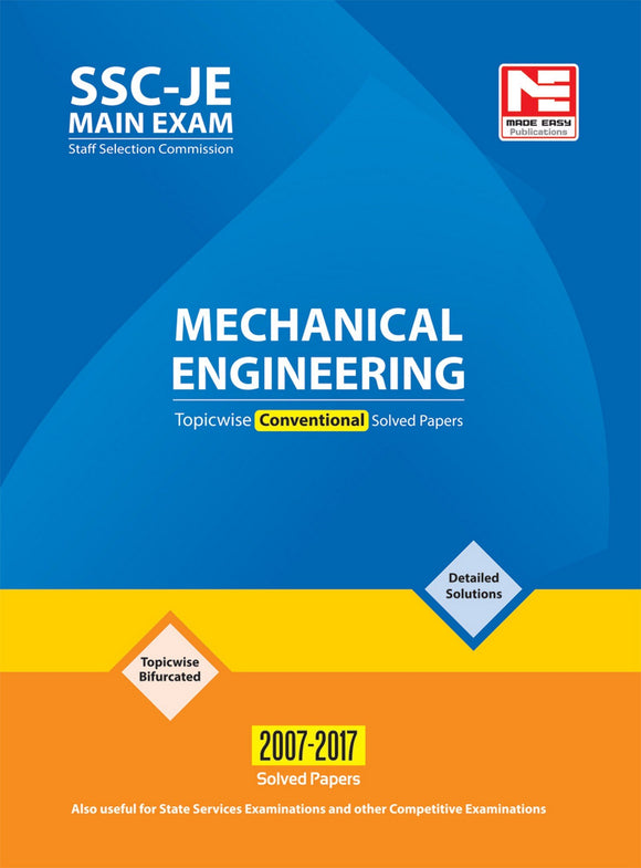 SSC : JE Mechanical Engineering - Previous Year Conventional Solved Papers? First Edition (English, Paperback, Made Easy Editorial Board)