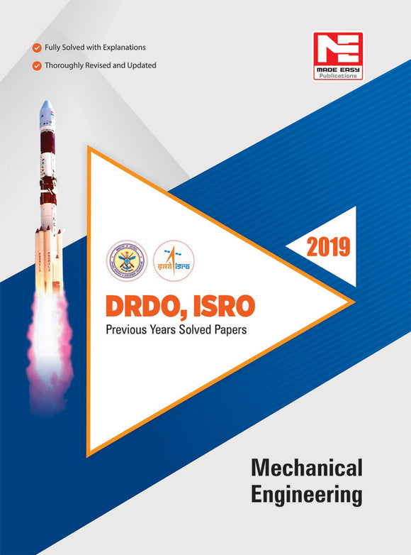 DRDO, ISRO : Mechanical Engineering : Previous Solved Papers - 2019