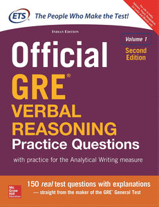 Official GRE Verbal Reasoning Practice Questions(Volume - 1) - With Practice for the Analytical Writing Measure