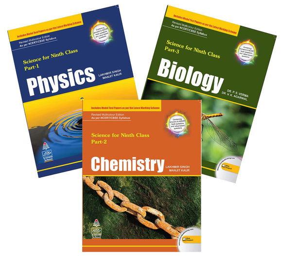 Science for Class 9 : Physics + Chemistry + Biology Lakhmir Singh for 2020 CBSE Examinations