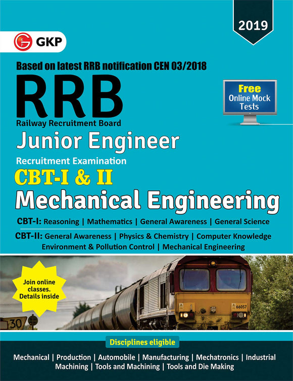 RRB 2019 - Junior Engineer CBT - I & II - Mechanical & Allied Engineering