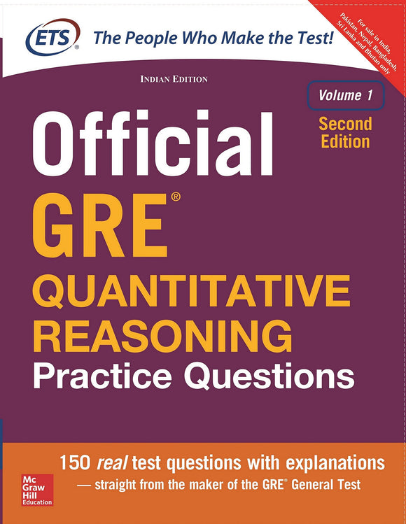 Official GRE Quantitative Reasoning Practice Questions, Volume 1 (English, Undefined, unknown)