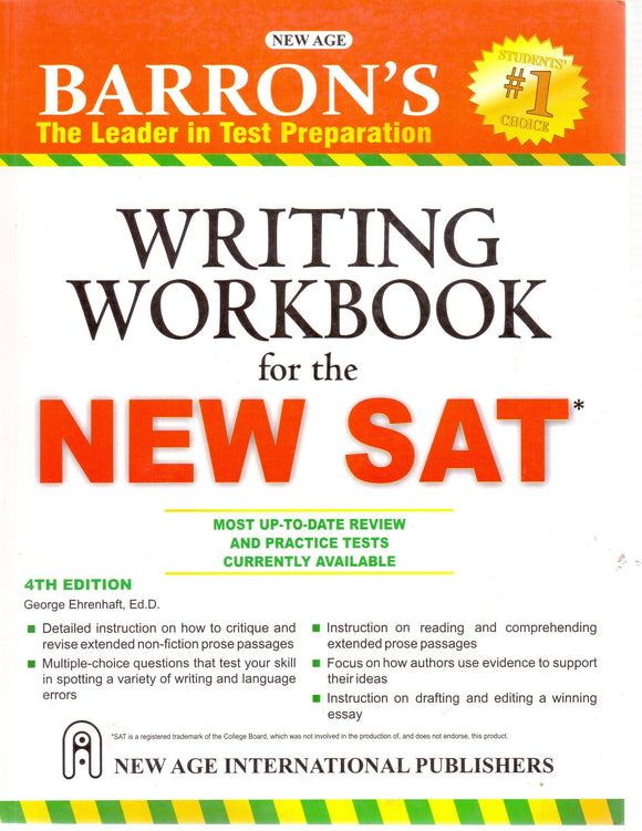 Barron's Writing Workbook for New SAT