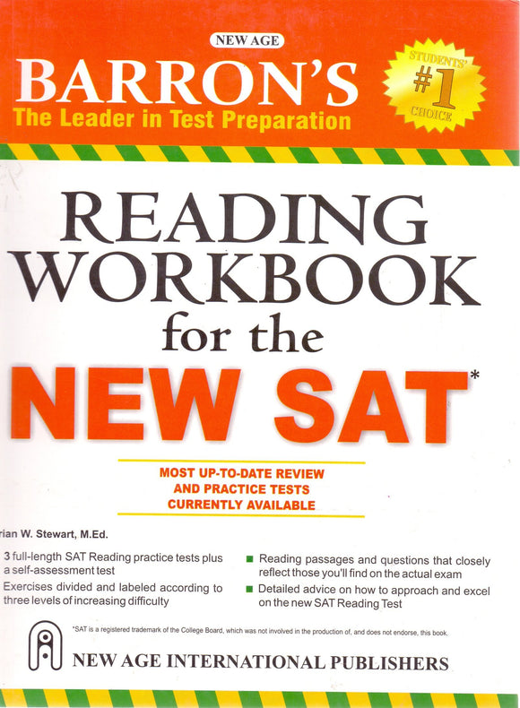 Barrons Reading Workbook for the New SAT, Brian W. Stewart