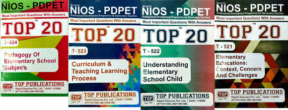 NIOS PDPET Bridge 521 + 522 + 523 + 524 TOP 20 Most Imp Questions Answers