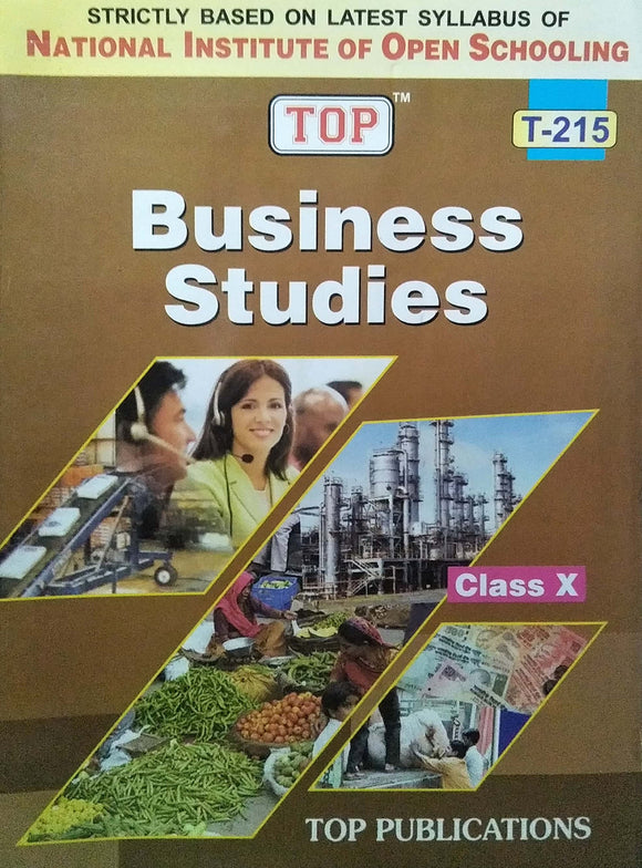 TOP NIOS Class 10 Business Studies T - 215 Guide