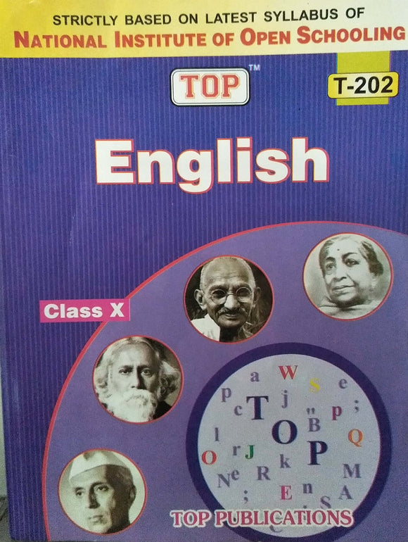 TOP NIOS Class 10 English T- 202 Guide