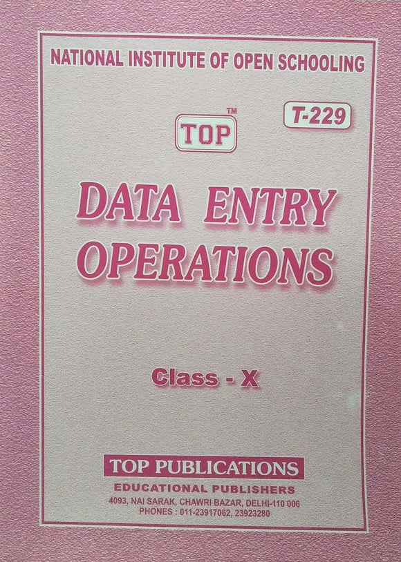 TOP NIOS Class 10 Data Entry T - 229 Guide
