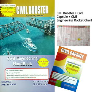 Civil Booster Book (Civil Engineering Handbook) + Civil Rocket Chart + Civil Capsule