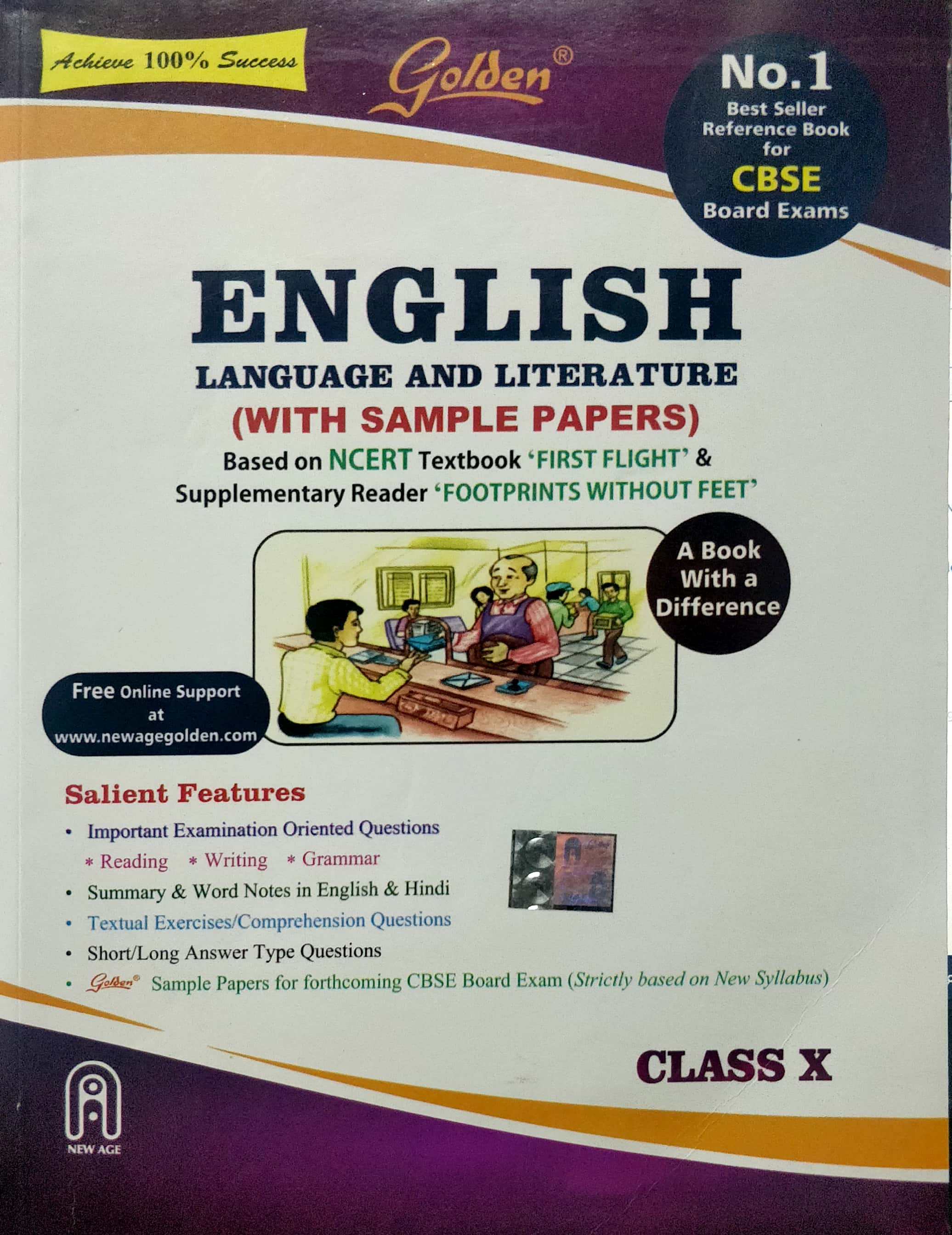 Golden Class 10 English (First Flight and Footprints) Guide for 2020 Exams