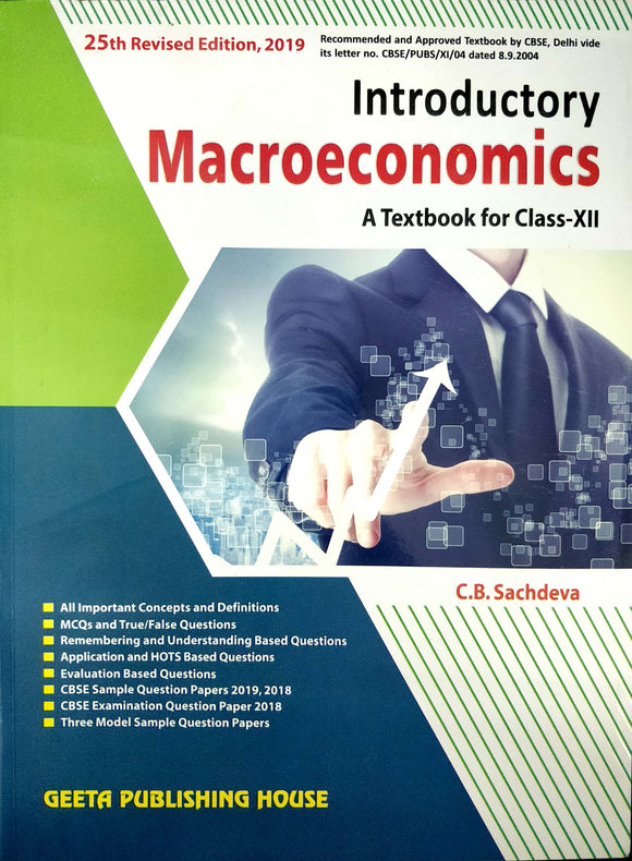 Introductory Macro economics Class 12 CB Sachdeva for 2020 Exams