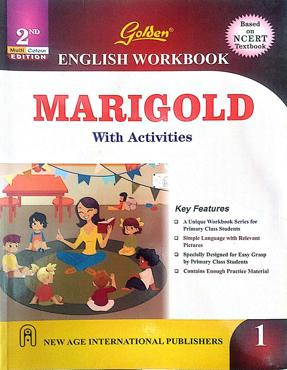 Golden English Workbook Marigold with Activities for Class - 1