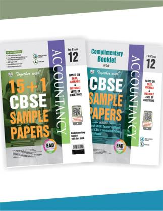 Together with Class 12 Accountancy EAD 15+1 CBSE Sample papers for 2020 exams