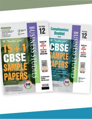 Together with Class 12 Business Studies EAD 15+1 CBSE Sample papers for 2020 exams