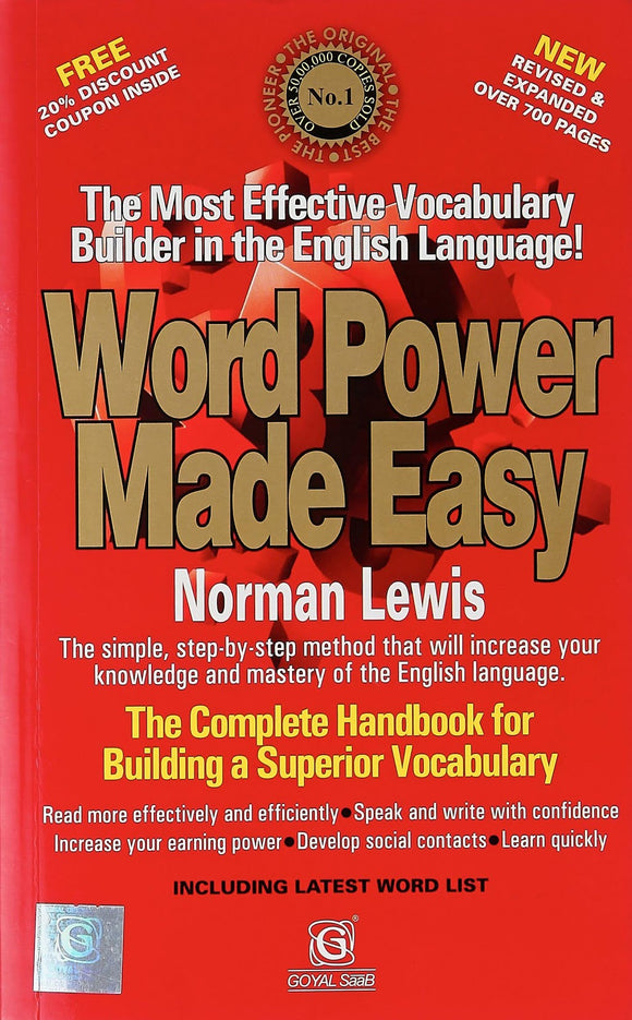 Word Power Made Easy, Norman Lewis, Goyal Saab