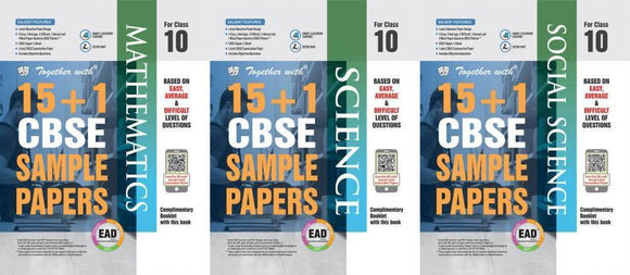 Together with EAD 15+1 CBSE Sample Papers Class 10 (Maths + Science + Social) for 2020 Exams