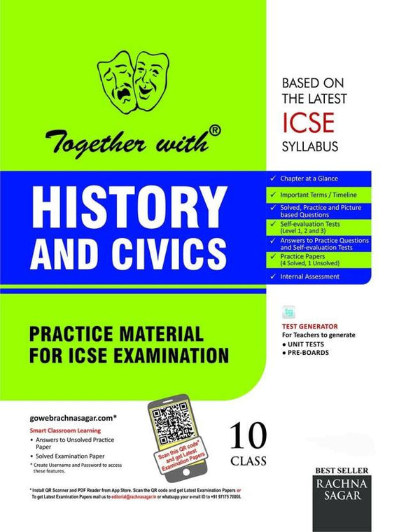 Together with ICSE Class 10 History and Civics Practice Material for session 2018 - 2019 (English, Paperback, Nilima Dayal)