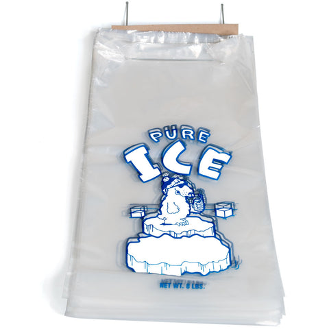 8 lb Pure Ice Bags on Wire Wicket (1000 Bags/Case)