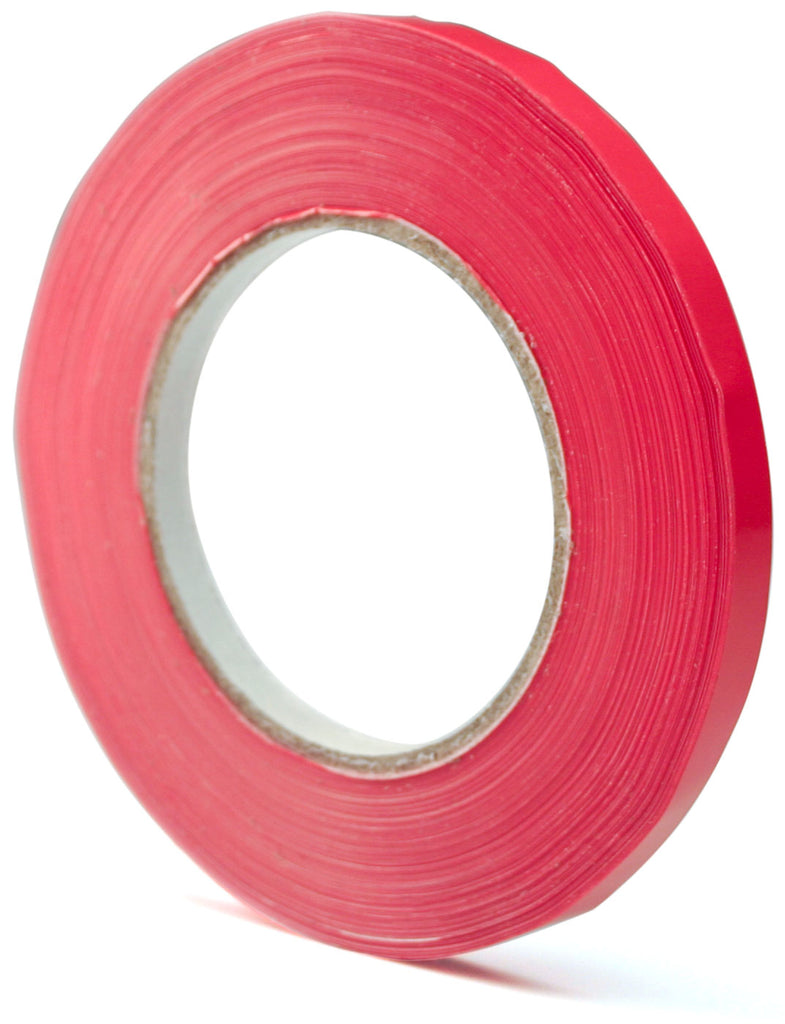 "Ice Bag Tape - Red 3/8"" x 540' (180 yards) / Case"