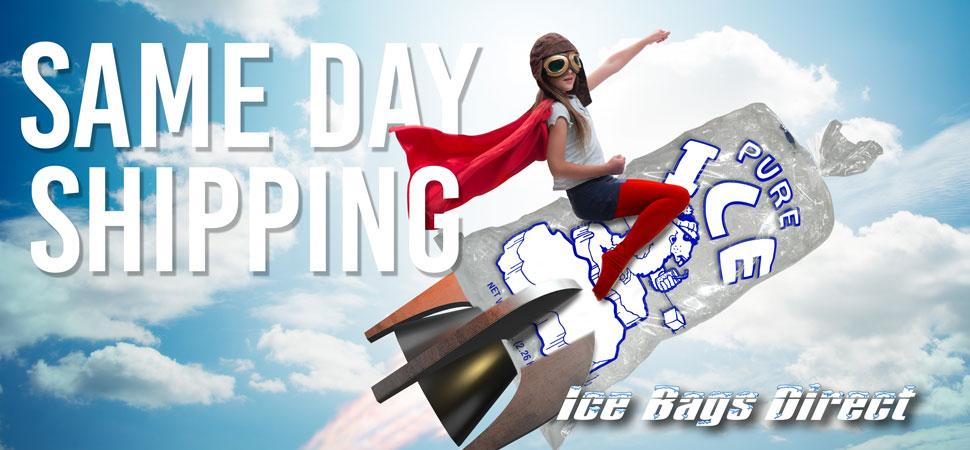 Same Day Shipping on All ice bag orders placed before 4:00 Eastern Standard Time
