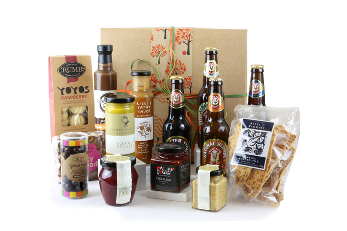 Indulgence men's gift box with beer, snacks and treats