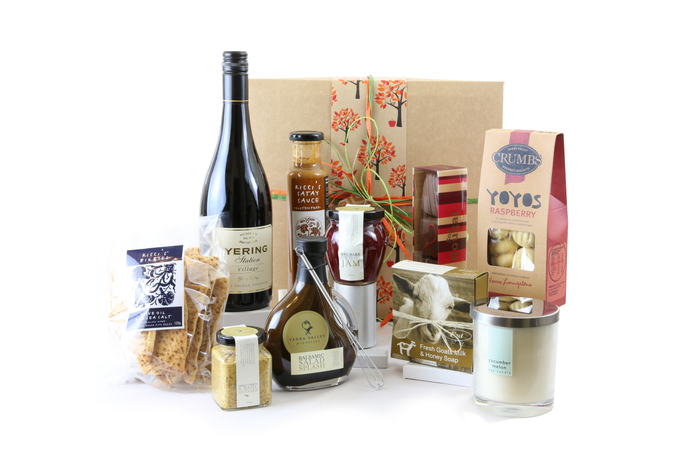 Indulgence women's gift box with wine, snacks and treats