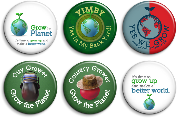 Grow The Planet Pin Set