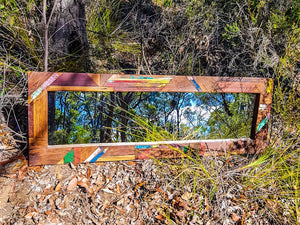 How an Awsome Mirror was  created out of small left over pieces of Recycled Timber