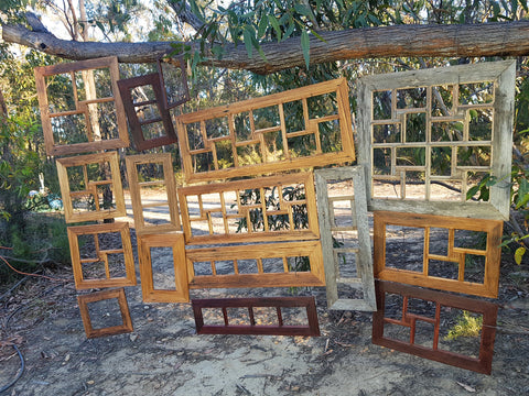 Multi collage photo frames in rustic salvaged timbers Australian made and available online