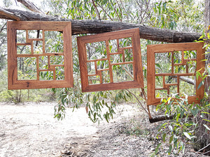 Recycled timber multi photo collage frame for 10 photos Australian made