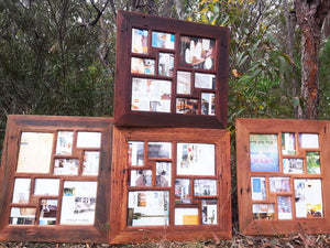 12 opening Multi Collage Family Photo Frame handcrafted in Australia in Recycled Timber