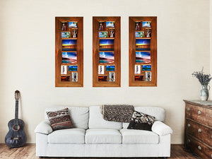 Gallery Photo Frames Australia with 10 opening Multi Size Photo Collage Frames in Recycled Timber
