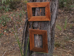 Cute single picture frames made using salvaged timbers Australia