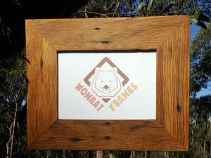Rustic Brown Gum recycled timber single frames made to order in Australia