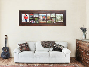 Multi Photo Collage gallery photo frames Australia made with recycled timber